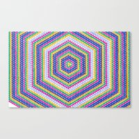 bender Canvas Prints featuring Mind Bender by Abstract Graph Designs