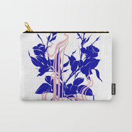Locust tattoo roses in pink and blue Carry-All Pouch