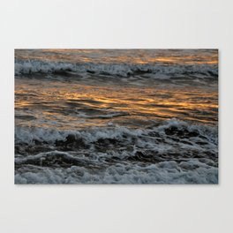 Gold Waves Canvas Print