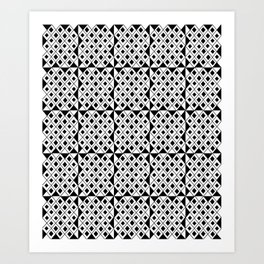 optical pattern 20 Art Print