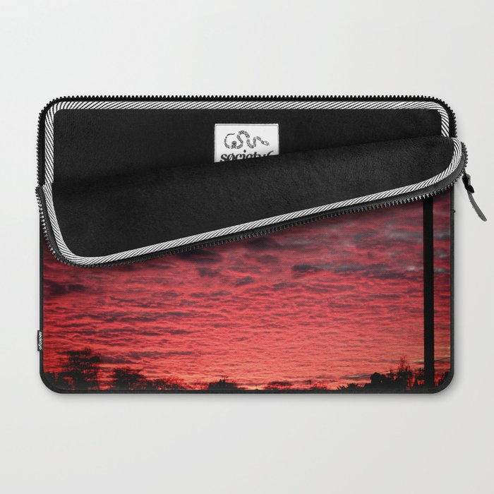 British Winter Sunset Laptop Sleeve