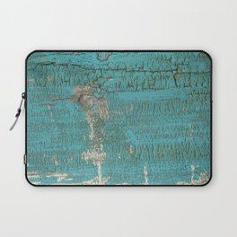 Rustic Wood with Bright Turquoise Paint Weathered Aged to perfection Laptop Sleeve