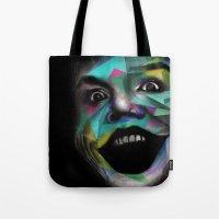joker Tote Bags featuring Joker by Urban Artist