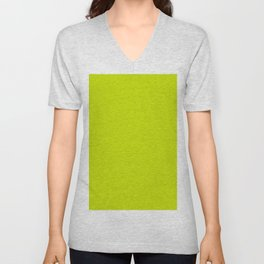 Solid neon green Unisex V-Neck