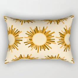 Art Deco Starburst Rectangular Pillow