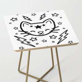 Mystic Cat - Black Side Table