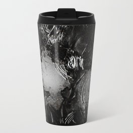 Turning Sadness Into Stone Faces And Surreal Storms Metal Travel Mug