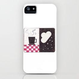 Coffee & Snow iPhone Case