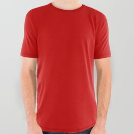 Bright red All Over Graphic Tee