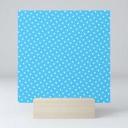 Pastel Goth Pastel Blue Retro Polka Dot (White) Mini Art Print