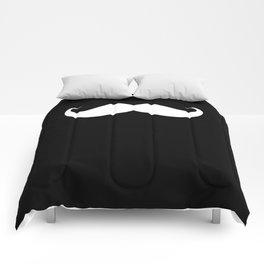 BIG MUSTACHE (Black & White) Comforters