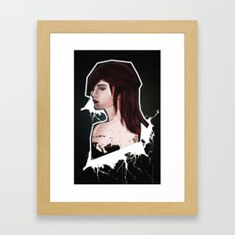 The girl with the rad hair Framed Art Print
