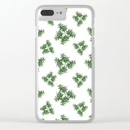 Nature Motif Pattern Design Clear iPhone Case