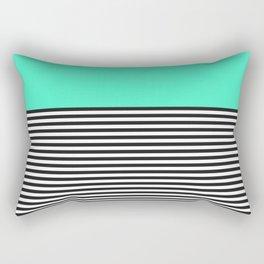 STRIPE COLORBLOCK {MINT/TEAL} Rectangular Pillow