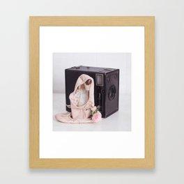 Ballet Photograph, Ballerina Art, Still Life, Home Decor, Girls Room, Still Life, Vintage Camera Framed Art Print