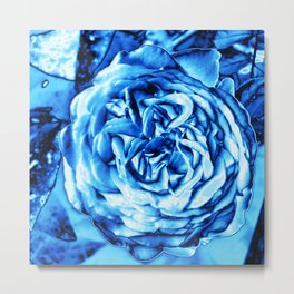 Rose metallic ice Metal Print