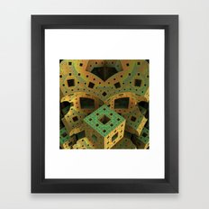 Puzzle Box Framed Art Print