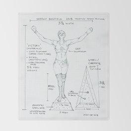 Victory Drawing, Transitions through Triathlon Throw Blanket