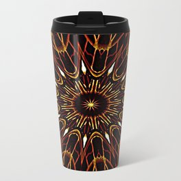 Brown Kaleidoscope Mandala Travel Mug