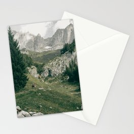 Peaceful Mountains   Landscape Photography Alps   Print Art Stationery Cards