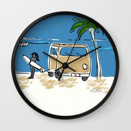 Surf Van on The Point Wall Clock