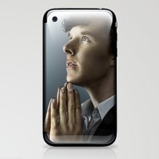 Sherlock in thought iPhone & iPod Skin
