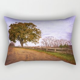 Tree By the Overlook Rectangular Pillow