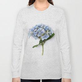 Blue hydrangea flowers Long Sleeve T-shirt
