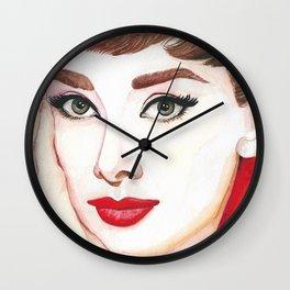 Audrey Hepburn Portrait Wall Clock