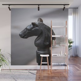 Standing Guard - Horse Head Hitching Post in New Orleans French Quarter Wall Mural