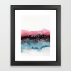 Watercolor abstract landscape 10 Framed Art Print