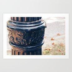 Leaves On A Lamp Post Art Print