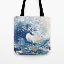 The Great Wave Abstract Ocean Tote Bag