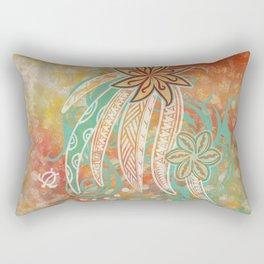 Hawaiian Tribal Sunrise Rectangular Pillow