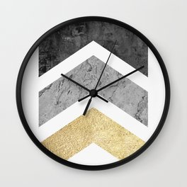 Collage three arrows Wall Clock