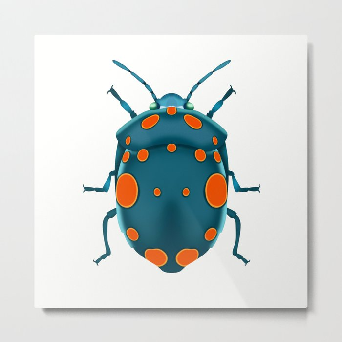 Physic Nut Stink Bug Metal Print