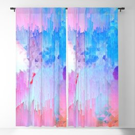Abstract Candy Glitch - Pink, Blue and Ultra violet #abstractart #glitch Blackout Curtain