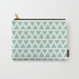 Shapes Nr.1 - Teal Triangles Pattern Carry-All Pouch
