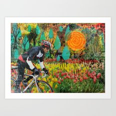 Through the Tulips Art Print