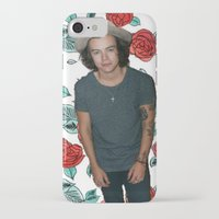 harry styles iPhone & iPod Cases featuring Harry Styles by Claudia