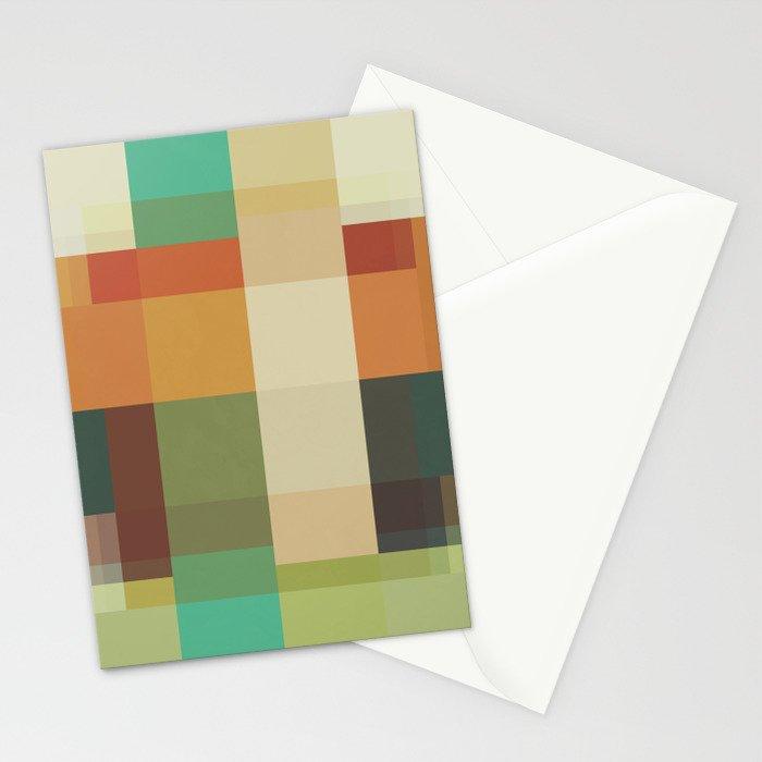 Retro Geometry Stationery Cards