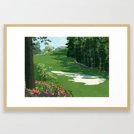 2013 Masters the 10th hole at the Augusta National Golf Club Framed Art Print