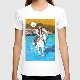 Frontier Tales: Jimmy and his horse Jack T-shirt