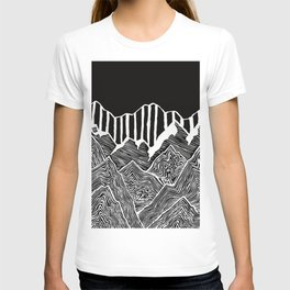 Geode Mountains Black and White T-shirt