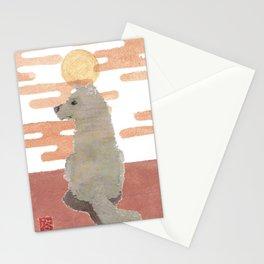 DOG, Pink Sunset, Mixed Media  Stationery Cards
