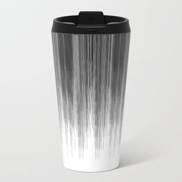 Black and Grey Paint Drips on White Travel Mug
