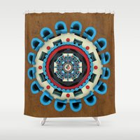 sacred geometry Shower Curtains featuring Sacred Geometry by Angel Decuir