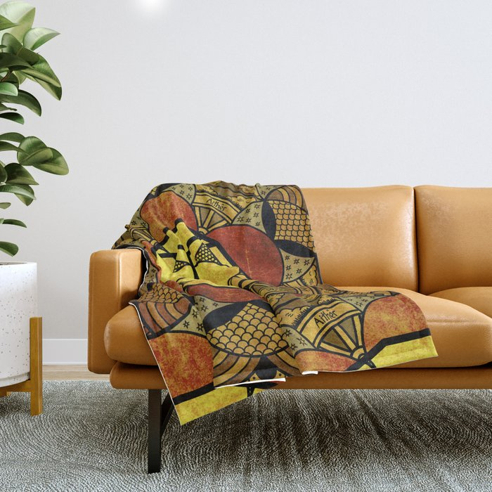 Sacred Geometry for your daily life -  Platonic Solids - ETHER COLOR Throw Blanket