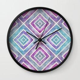 Watercolor Geometrics Wall Clock