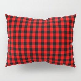 Mini Red and Black Buffalo Check Plaid Tartan Pillow Sham